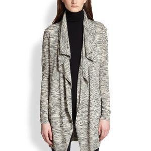 Theory Trincy Open Front Cardigan Space Dye